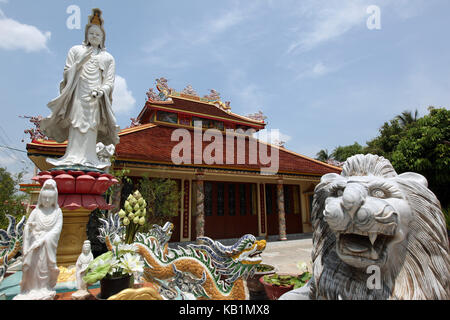 Asia, South-East Asia, Laos, Centrally Laos, Savannakhet, Chinese temple, temple, - Stock Photo
