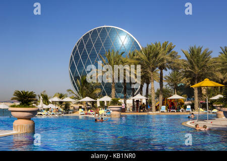 The aldar headquarters building in abu dhabi stock photo - Swimming pool construction companies in uae ...