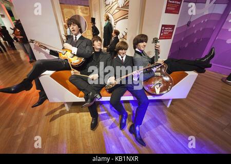 England, London, Madame Tussauds, wax figures, the Beatles, - Stock Photo