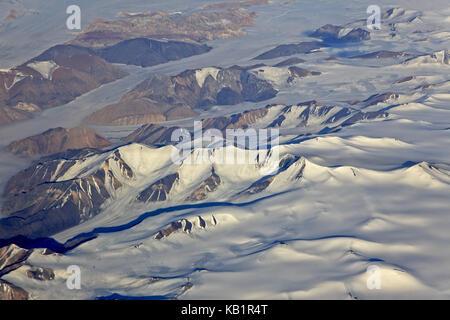North America, Canada, Nordkanada, Nunavut, Ellesmere Iceland, glacier, mountain landscape, ice scenery, - Stock Photo