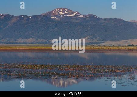 Bridgeport Reservoir near the high sierra town of Bridgeport in Mono County, California. August 7, 2017. - Stock Photo