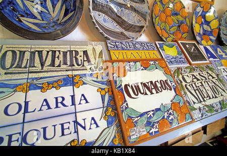 Portugal, Algarve, ceramics art in the Olaria Pequena in Porches, - Stock Photo