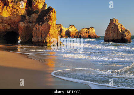 Portugal, Algarve, rock beach Prainha near Alvor, - Stock Photo