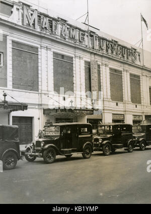Antique c1930 photograph, Madame Tussauds Wax Museum on Marylebone Road in London, England. SOURCE: ORIGINAL PHOTOGRAPH. - Stock Photo