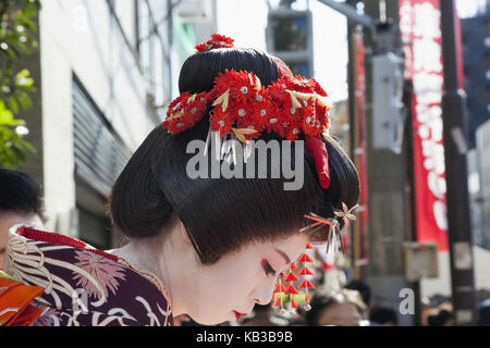 Japan, Honshu, Tokyo, Asakusa, Jidai Matsuri festival, geisha, - Stock Photo
