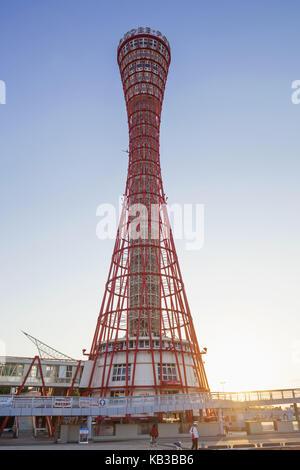 Japan, Honshu, Kansai, Kobe, Kobe port Tower, - Stock Photo