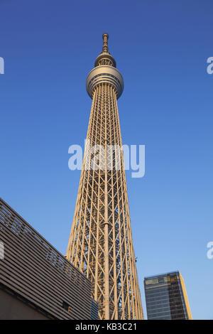 Japan, Honshu, Tokyo, Asakusa, Skytree Tower, - Stock Photo