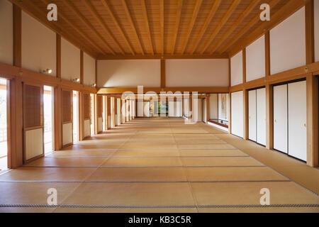 Japan, Kyushu, Kumamoto, castle Kumamoto, Honmaru-goten palace, main hall, - Stock Photo