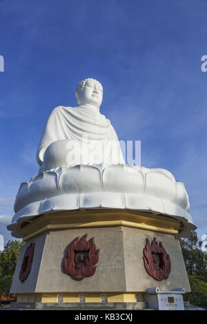Vietnam, Nha Trang, Long Son Pagode, white Buddha, - Stock Photo