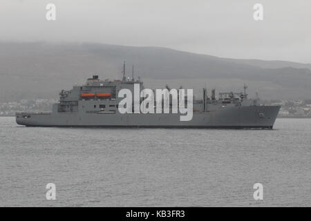 USNS Medgar Evers (T-AKE-13), a Lewis and Clark-class dry cargo vessel operated by the US Navy, arriving for Exercise - Stock Photo