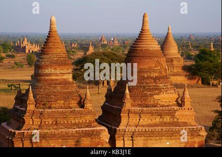temple complex Bagan, Myanmar, Asia, - Stock Photo