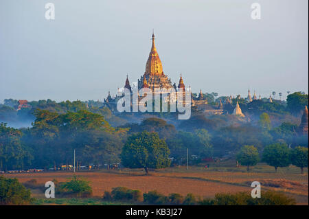 temple complex Bagan, Myanmar, Asia, - Stock Photo