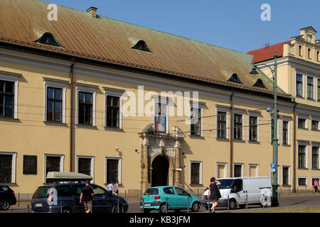 Papal Window at the Bishop's Palace, Franciszkanska street, Krakow, Poland, Europe - Stock Photo