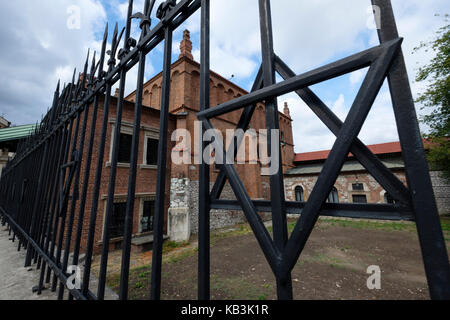 Star of David outside the Old Synagogue in the Kazimierz jewish district, Krakow, Poland, Europe - Stock Photo