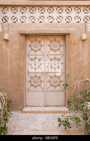 UAE, Dubai, Bur Dubai, Al Fahidi Historic District, traditional Emirati architecture - Stock Photo