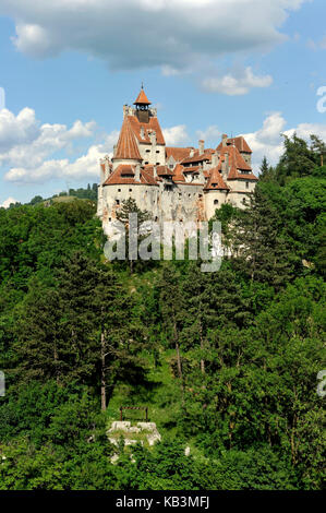 Romania, Transylvania, Carpathian Mountains, Bran, the first castle was erected by the Teutonic Knights in the 13th - Stock Photo