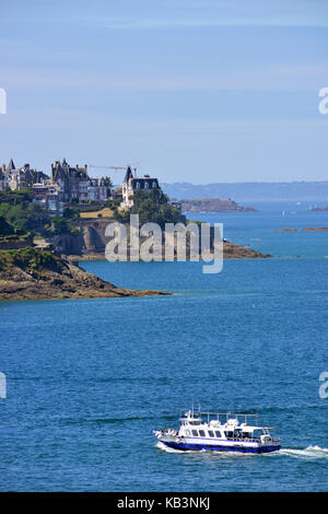 France, Ille et Vilaine, Cote d'Emeraude (Emerald Coast), Saint Malo, Dinard - Stock Photo