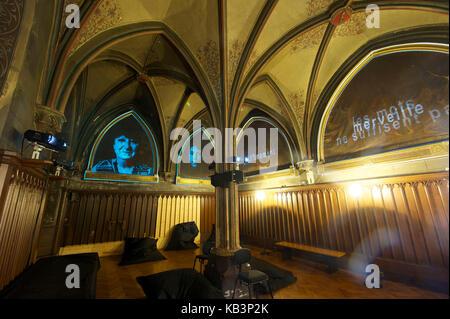 France, Haut-Rhin, Guebwiller, les Dominicains de Haute-Alsace, the Sacristy - Stock Photo