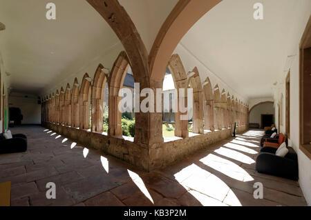 France, Haut-Rhin, Guebwiller, les Dominicains de Haute-Alsace, the cloister - Stock Photo