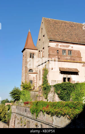 France, Bas-Rhin, Saverne, old episcopal castle of the 17th century today sub-prefecture - Stock Photo
