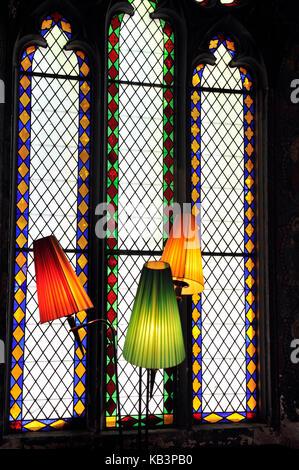 France, Haut-Rhin, Guebwiller, les Dominicains de Haute-Alsace, Neo-Gothic Chapel - Stock Photo