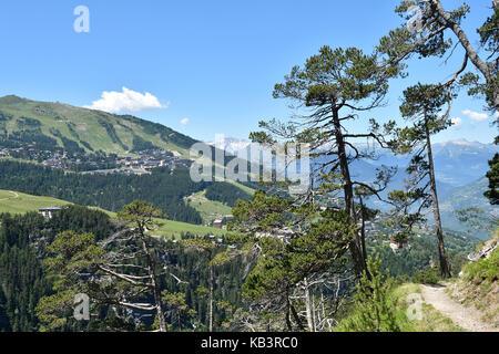 France, Savoie, Vanoise massif, Tarentaise valley, Courchevel - Stock Photo
