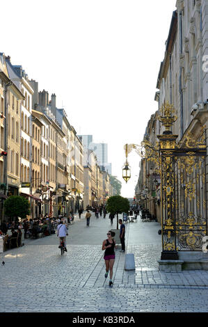 France, Meurthe et Moselle, Nancy, Stanislas street - Stock Photo