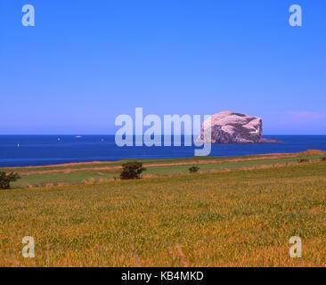 View towards Bass Rock, North Berwick, East Lothian - Stock Photo