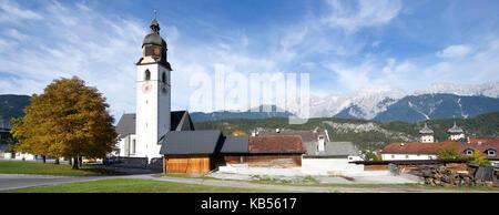 Austria, Tyrol, Inntal valley, Stams - Stock Photo