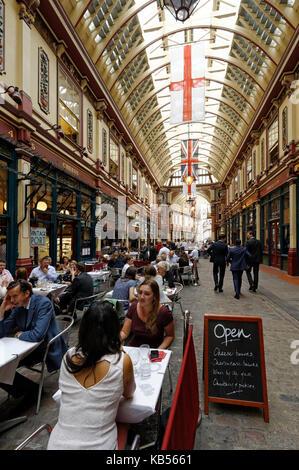 United Kingdom, London, City, Leadenhall Market, Victorian Hall Built in 1881 by Horace Jones - Stock Photo