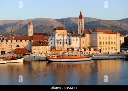 Croatia, Dalmatia, Dalmatian coast, Trogir, historical center listed as World Heritage by UNESCO - Stock Photo