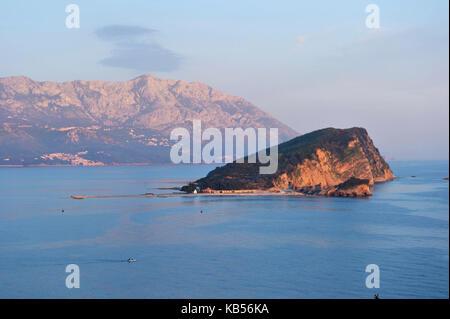 Montenegro, Adriatic coast, bay of Budva - Stock Photo