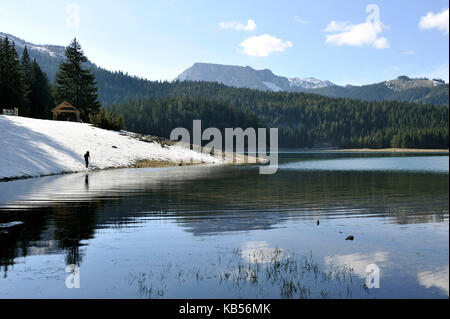 Montenegro, Northern mountains, Zabljak, national park of Durmitor, Crno Jezero (black lake) - Stock Photo