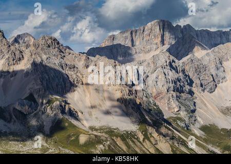 Europe, Italy, Alps, Dolomites, Mountains,  Trentino / Veneto, Marmolada, Col Margherita Park - Stock Photo