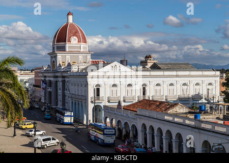 The rotunda of the Antiguo Ayuntamiento, home of the provincial government building in Cienfuegos, UNESCO, Cuba, - Stock Photo
