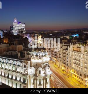 Edificio Metropolis, Architect Jules and Raymond Fevrier, Calle de Alcana, Madrid, Spain, Europe - Stock Photo