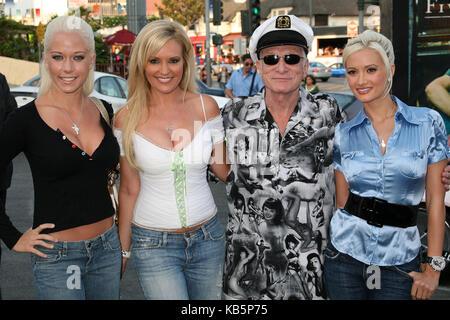 West Hollywood, CA, USA. 3rd Aug, 2006. 27 September 2017 - Hugh Marston Hefner aka ''Hef'' was an American magazine - Stock Photo