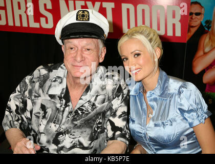 West Hollywood, CA, USA. 3rd Aug, 2006. 27 September 2017 - Hugh Marston Hefner aka ''Hef'' was an American magazine - Stock Photo