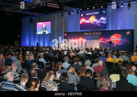 New Scientist Live, London, UK. 28th Sep, 2017. Astronauts, Tim Peake, Helen Sharman and Al Worden share their experiences - Stock Photo