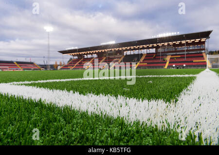 Ostersund, Sweden. 28th Sep, 2017. The pitch is watered before the Europa League match between Ostersunds FK and - Stock Photo