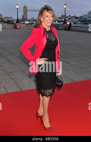 London, UK. 28th Sep, 2017. Dame Esther Rantzen arrives for the Childline Ball. Britain's Got Talent is this year's - Stock Photo