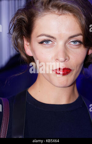 Paris, France. 27th Sep, 2017. Model Bozena Janisiw attends the Christophe Guillarmé show as part of Womenswear - Stock Photo