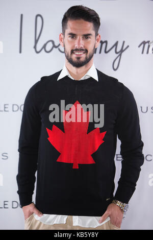 2f7e1b51e27 Isco Alarcon during a in the presentation of the clothing brand Noble Donkey  in Madrid on
