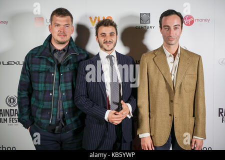 London, England, UK. 28th Sep, 2017. Casts of Noble Earth attend Raindance Film Festival Screening at Vue Leicester - Stock Photo