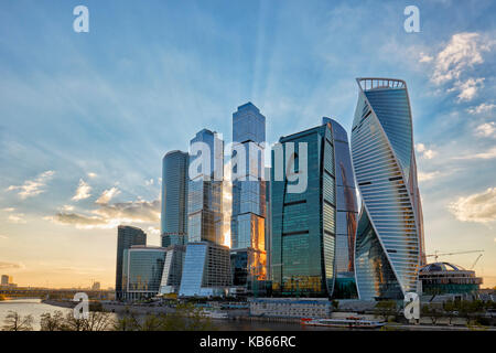 "The Moscow International Business Centre (MIBC), also known as ""Moscow City'. Moscow, Russia. - Stock Photo"