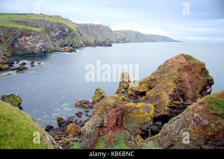 St Abbs Head seascape, Scotland. UK. - Stock Photo