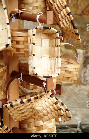 Group of baskets for sale in a shop - Stock Photo