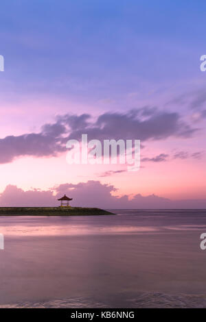 Sanur beach at sunrise, Bali, Indonesia - Stock Photo