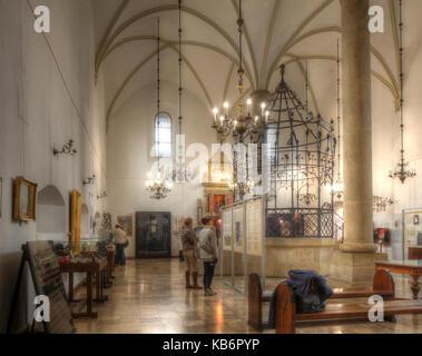 Interior View of  Old Synagogue Museum in  Jewish Quarter Kazimierz, Krakow, Lesser Poland, Poland, Europe - Stock Photo