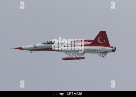 Türk Yıldızları demp team - Stock Photo